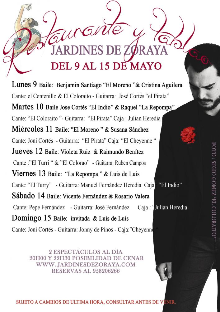 programacion flamenco 9 al 15 de mayo